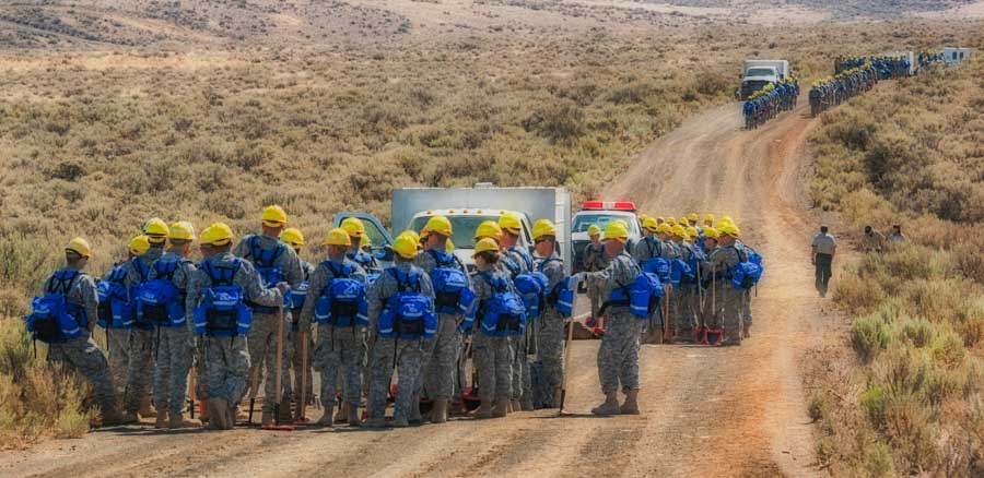National Guard wildfire training
