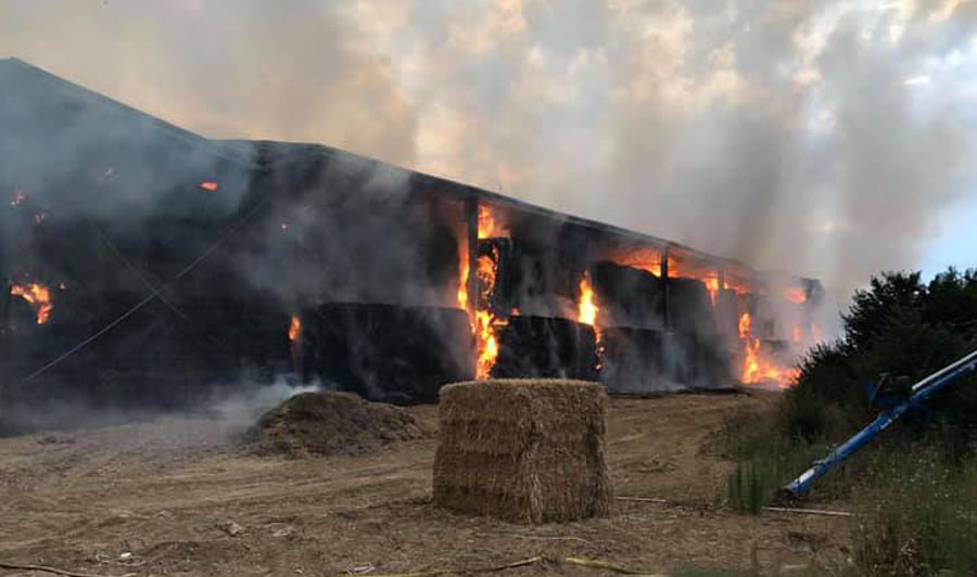 hay shed fire new south wales