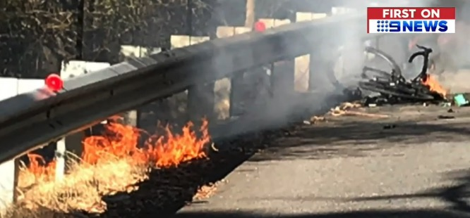 bicycle fire battery Australia
