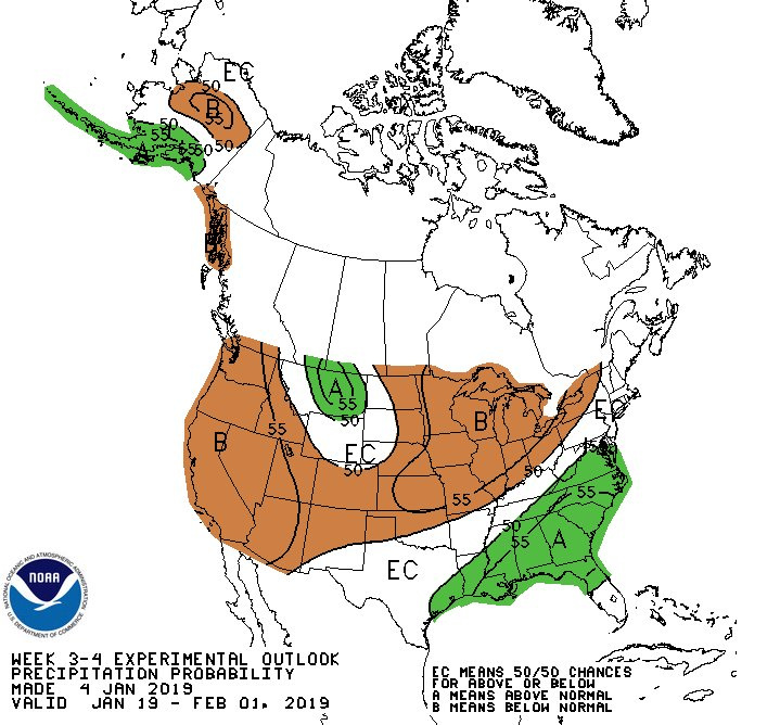 outlook for precipitation January