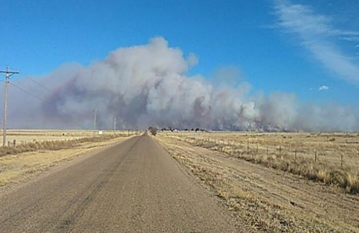 CR34 Fire in southeast Colorado
