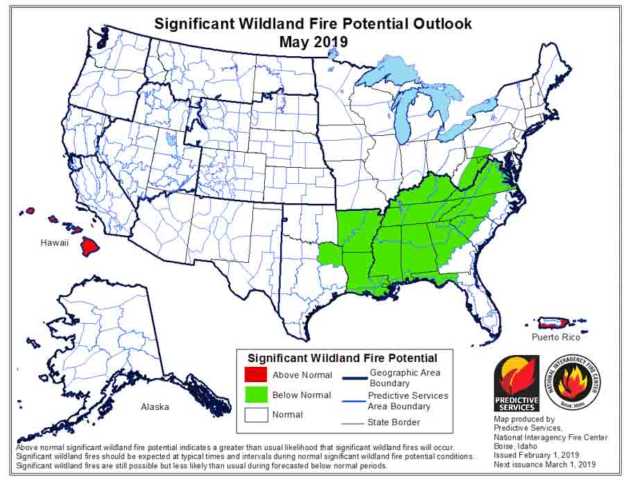 May wildfire potential outlook
