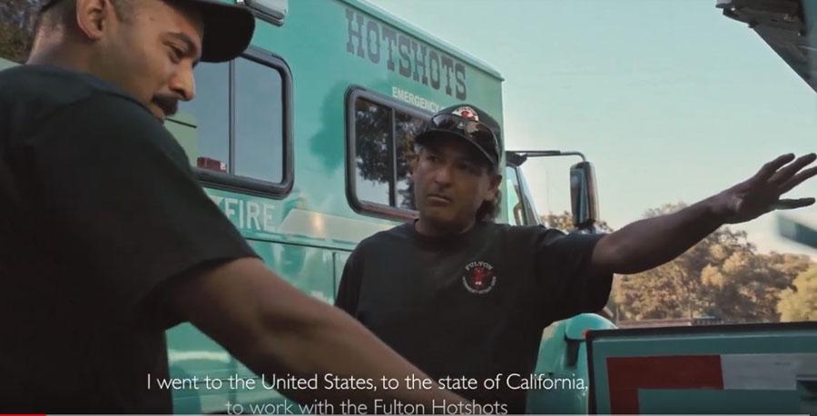 Mexican firefighter Fulton Hotshots