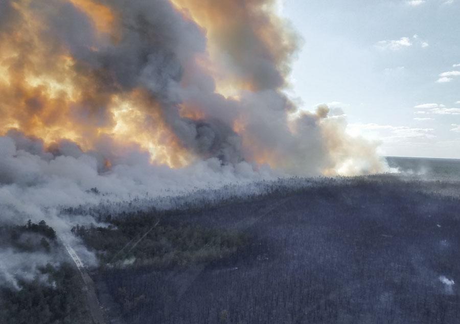 prescribed burn US Air Force's Warren Grove Bombing Range