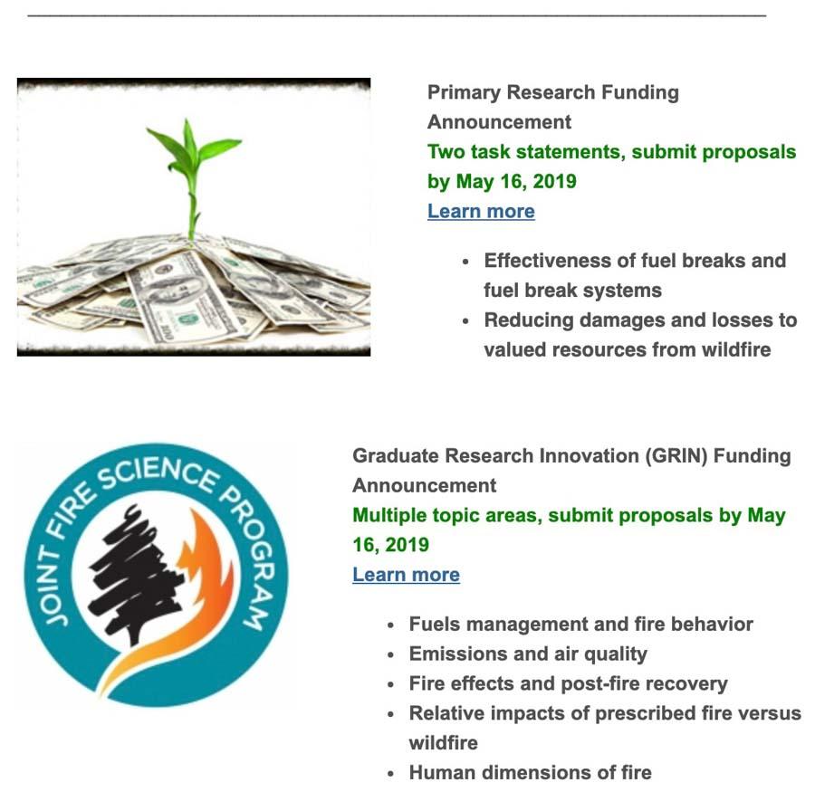 jfsp funding announcement