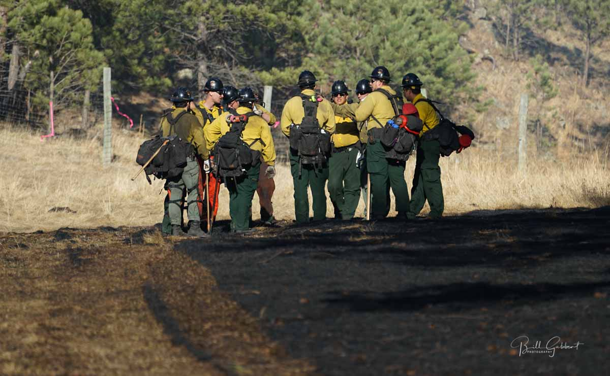 Firefighters Whitetail Fire Black Hills