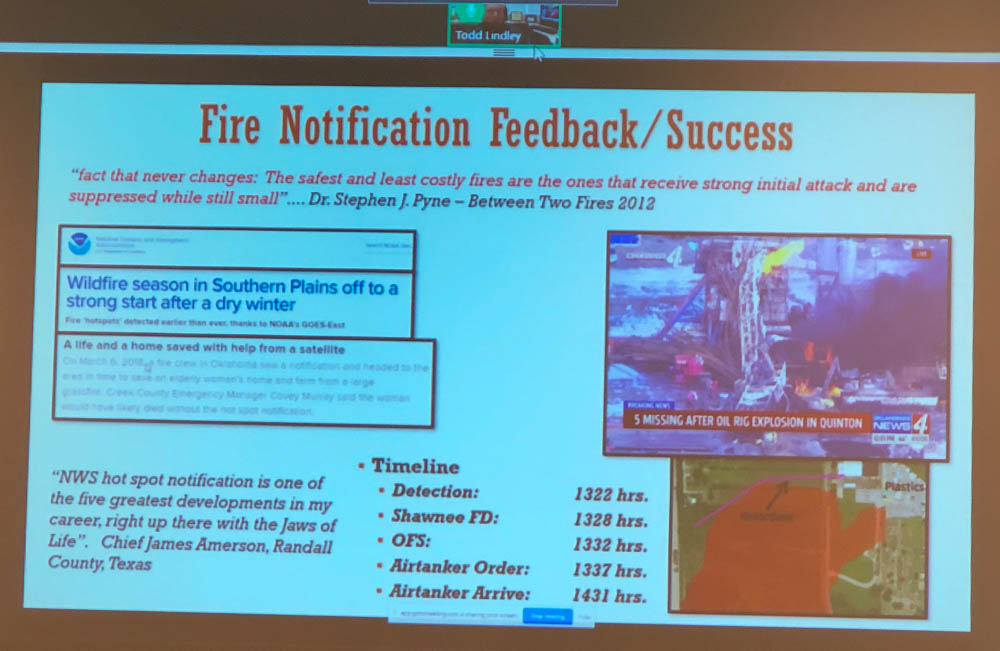detect wildfires satellite notify fire department