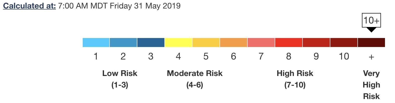 Calgary Air Quality, May 31, 2019
