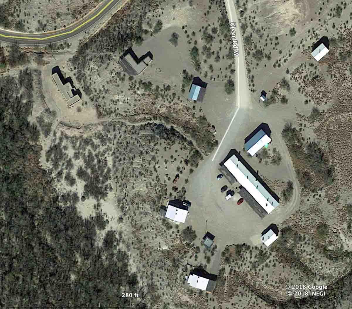 Satellite photo Castolon Fire area