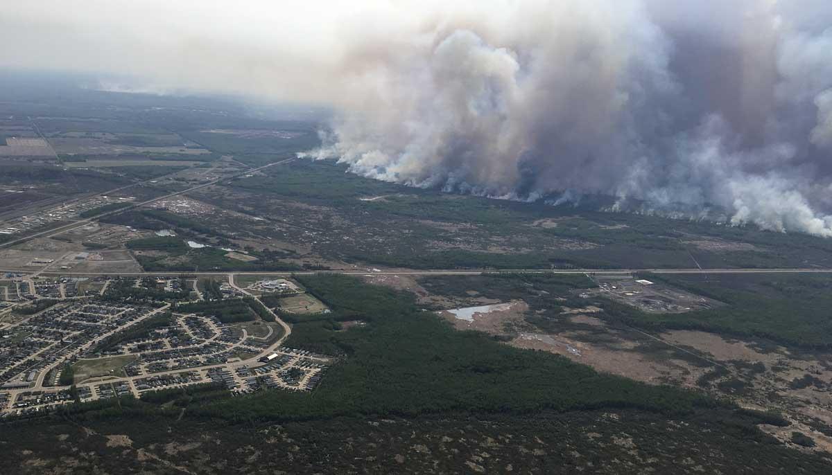 aerial photo Chuckegg Creek Fire High Level Alberta