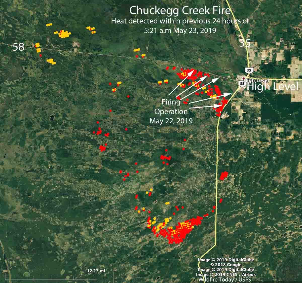 map High Level Alberta Chuckegg Fire
