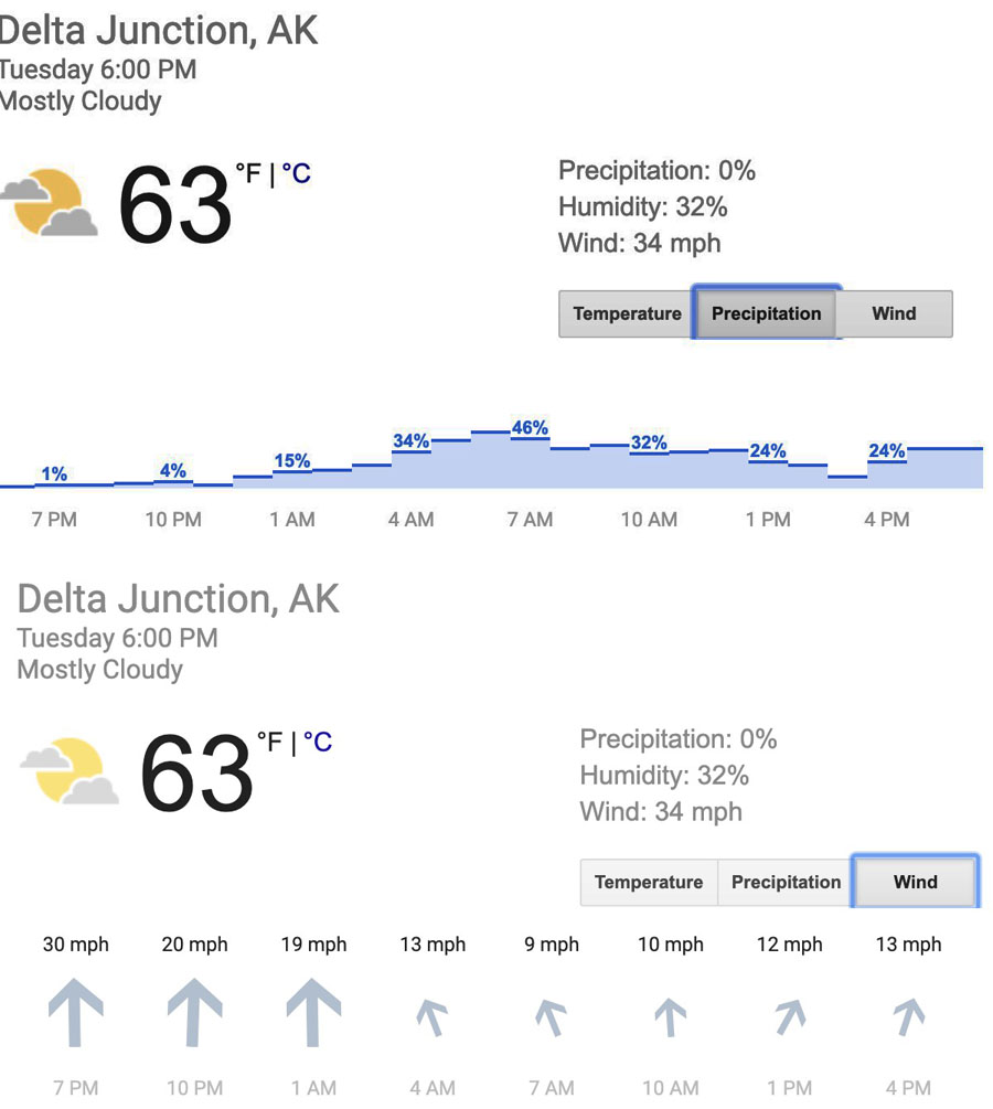 Delta Junction weather forecast