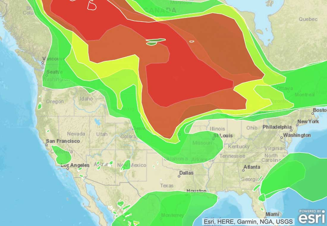 Canada Forest Fire Map Wildfire smoke from Canada moves farther into United States
