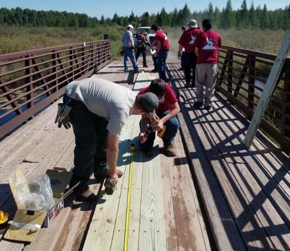 Job Corps repairs bridge