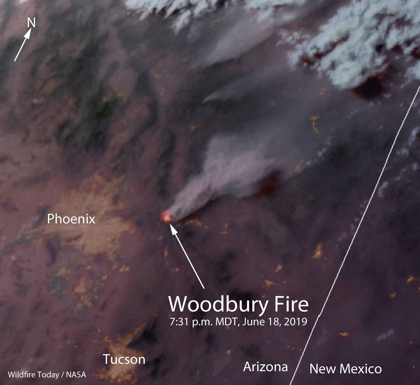 satellite photo Woodbury Fire Phoenix Arizona