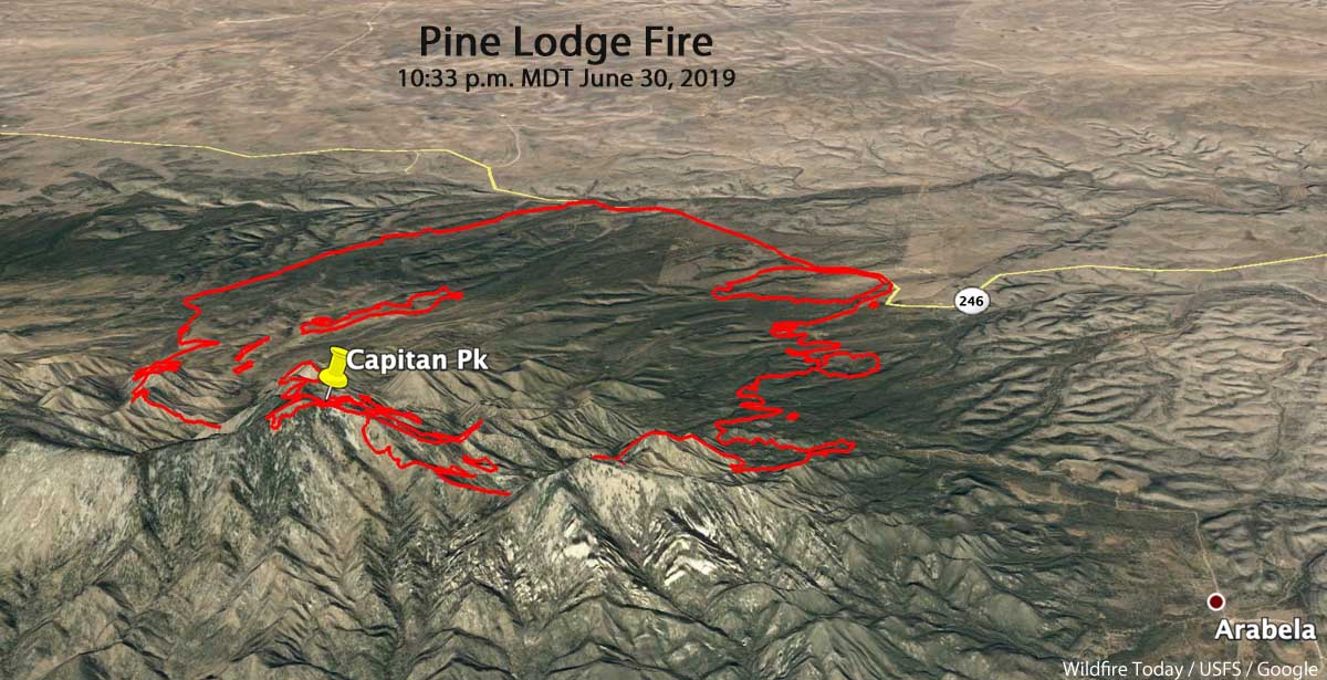 Pine Lodge Fire 3-d map