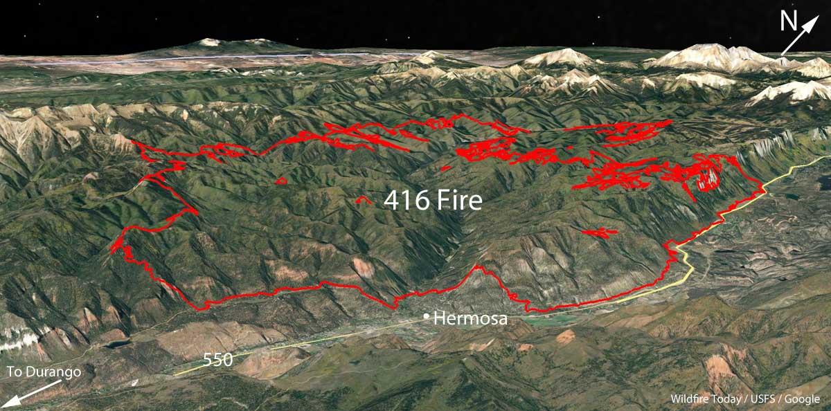 map 416 fire Colorado