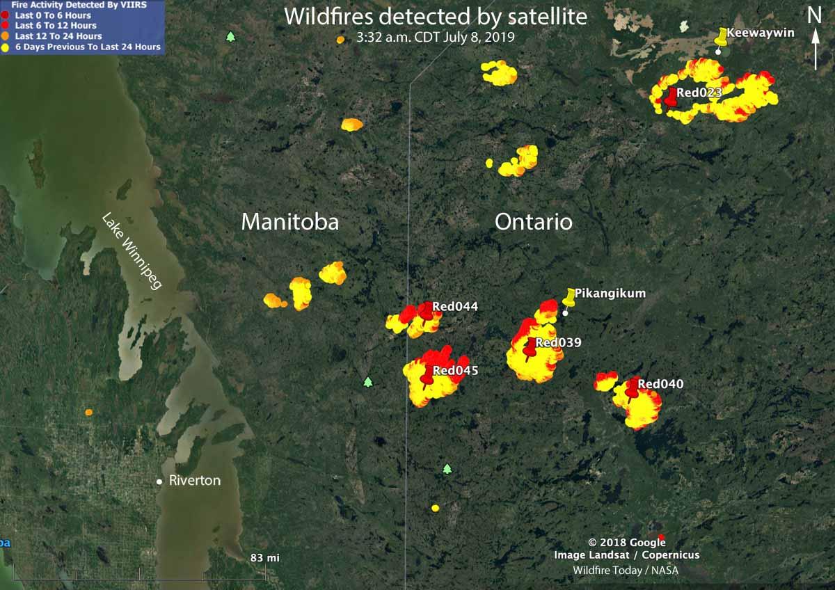 Wildfires northwest Ontario