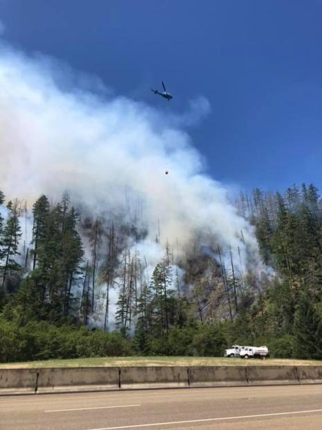Milepost 97 Fire July 26, 2019