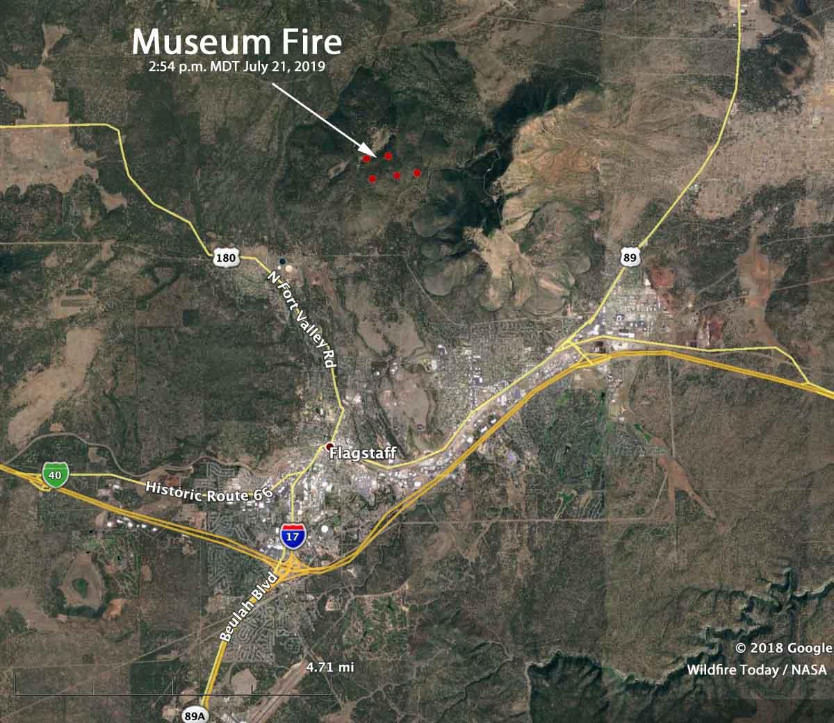 Map flagstaff arizona Museum Fire