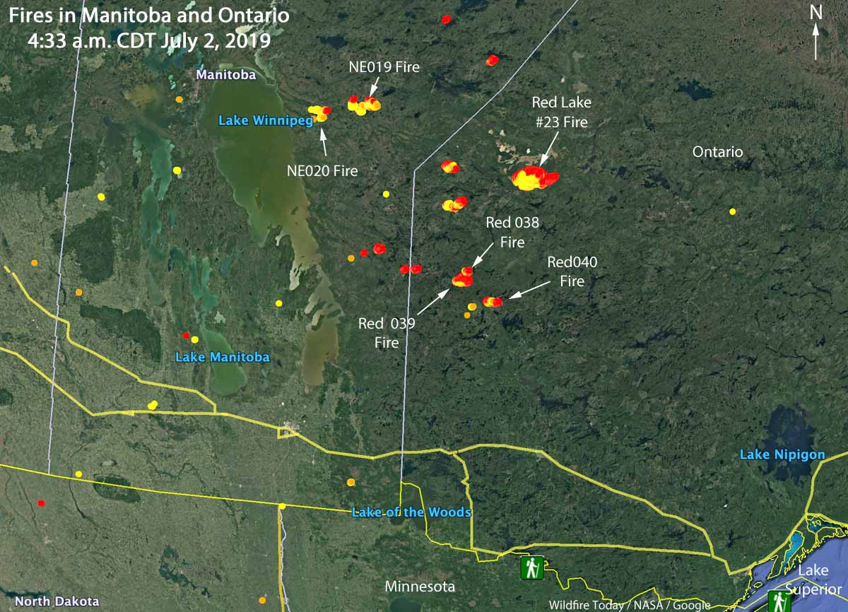 wildfires Manitoba Ontario June 2 2019