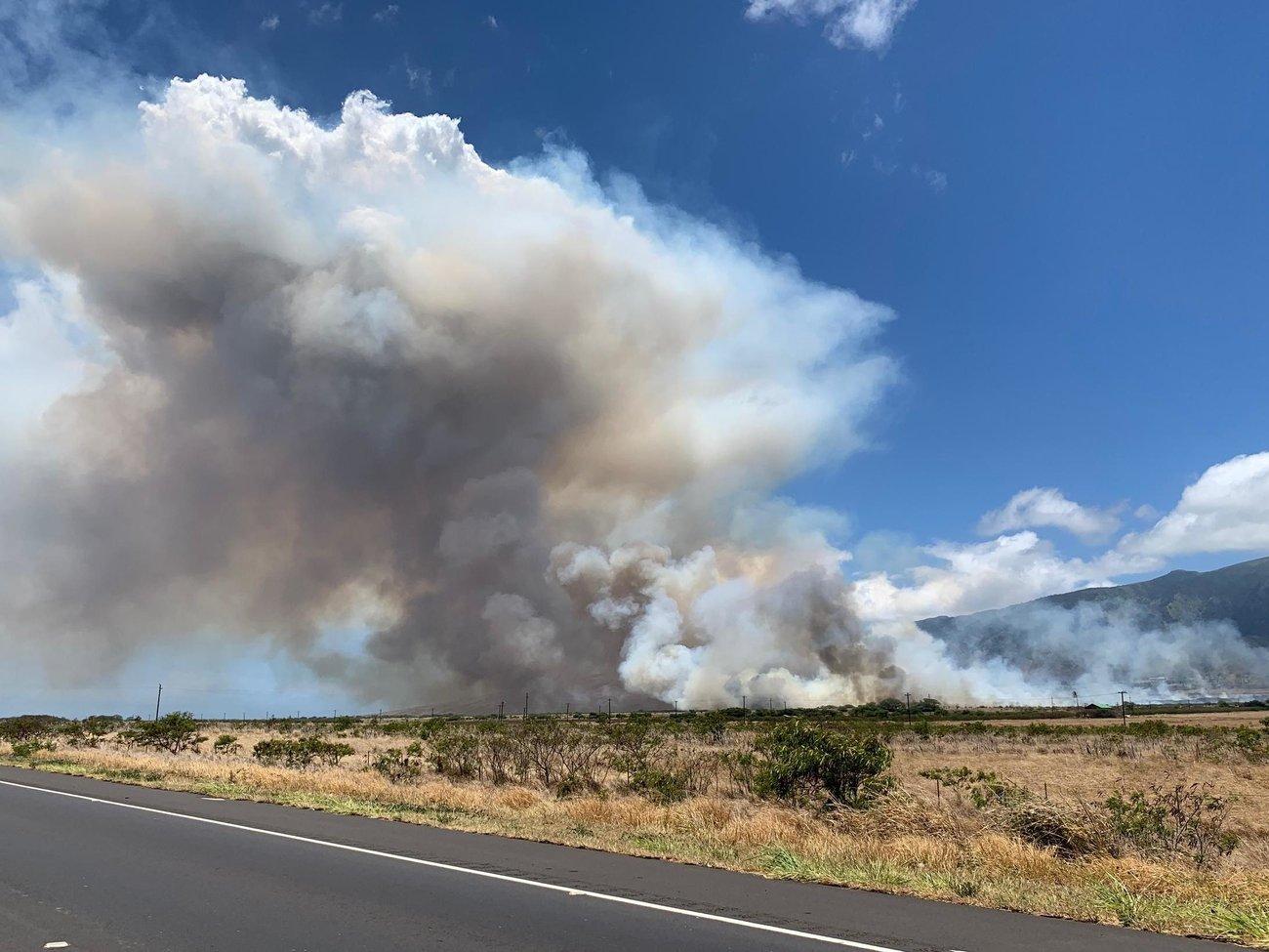 wildfire on Maui Thursday