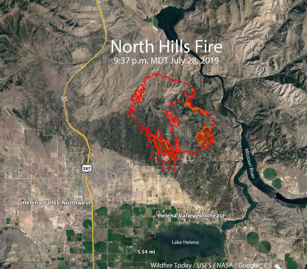 map North Hills Fire Helena MT