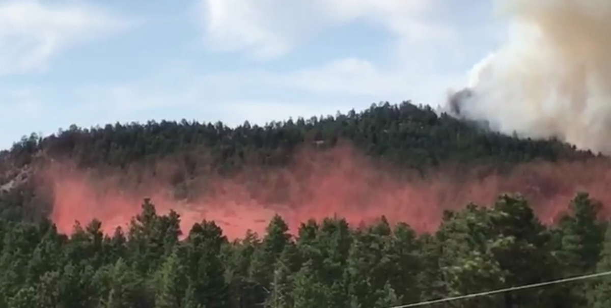 North Hills Fire retardant drop