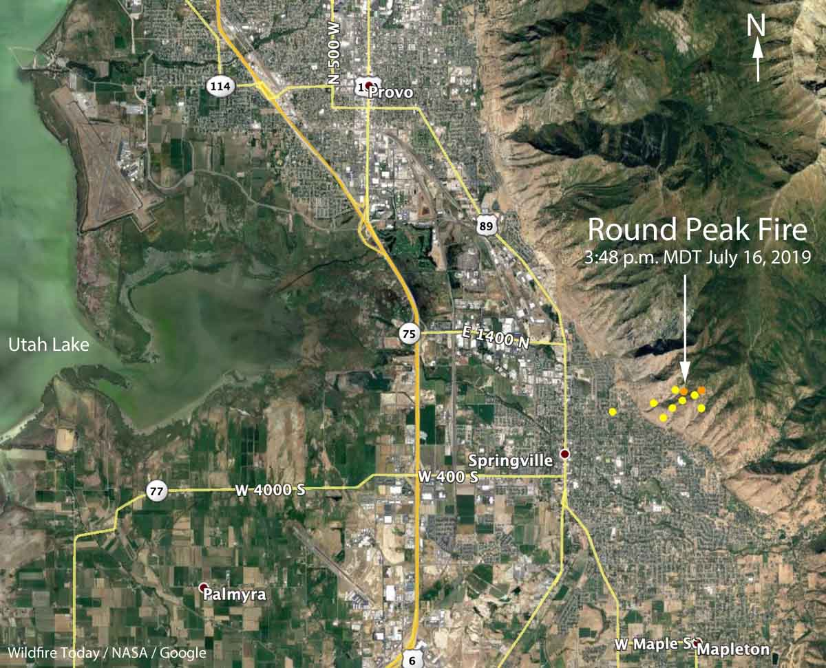 map Round Peak Fire