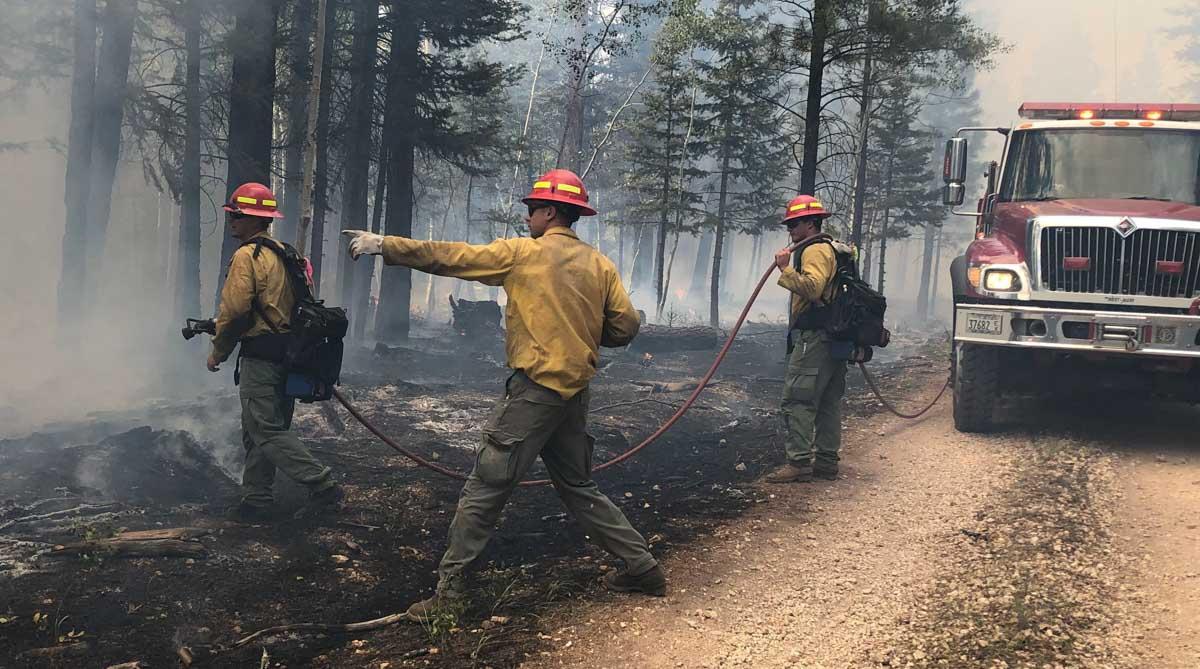 Firefighters Arizona Castle Fire