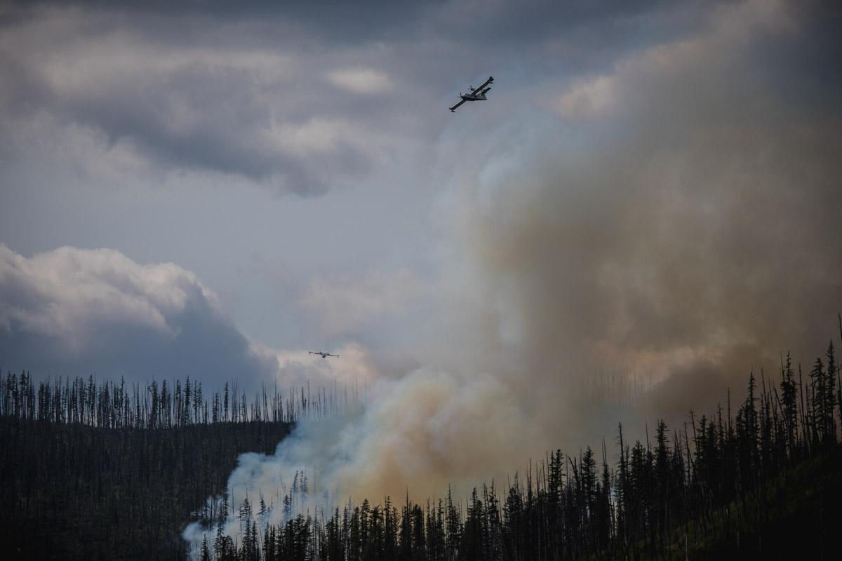 Howe Ridge Fire Glacier National Park 2018