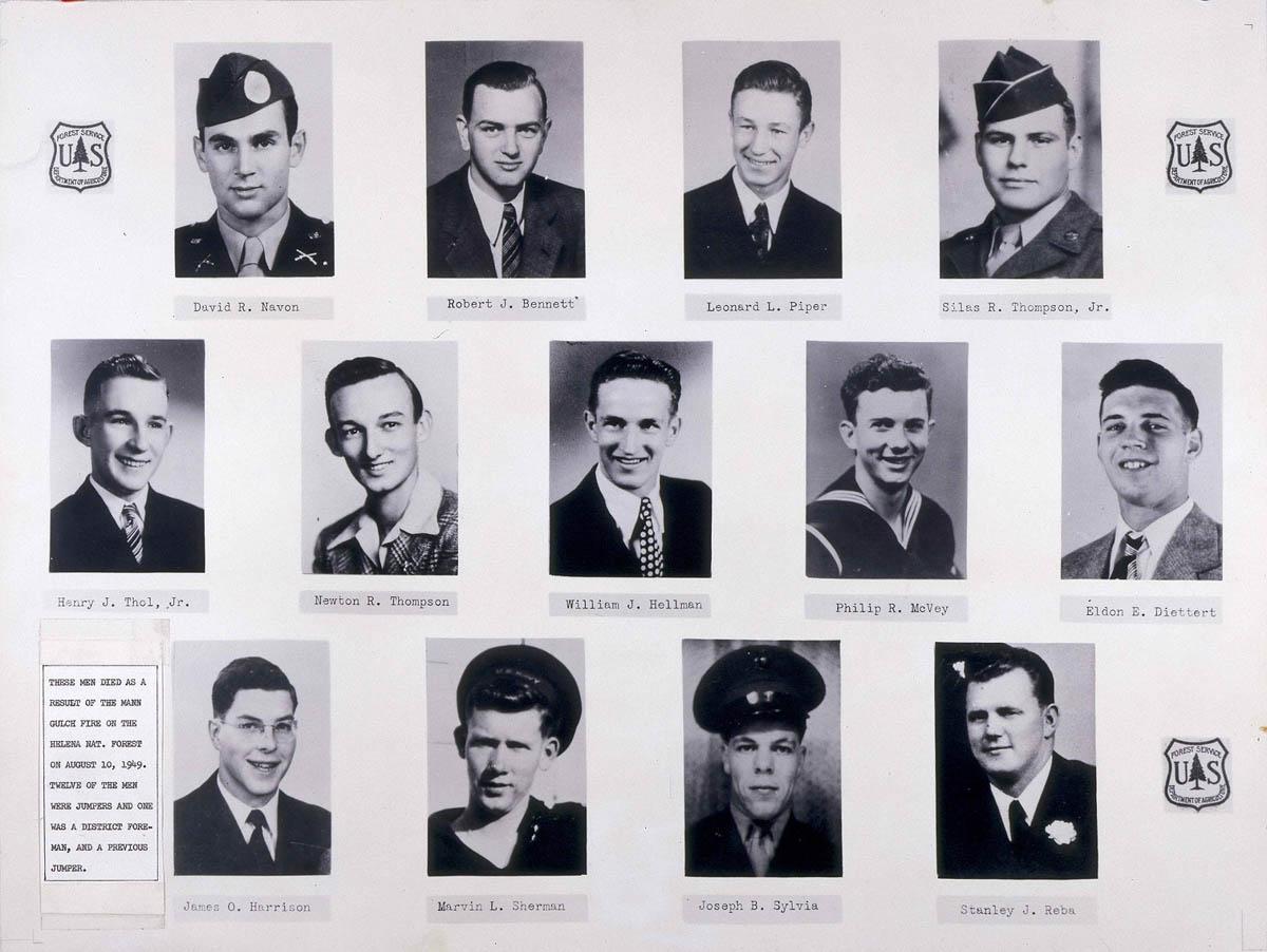 13 Mann Gulch Victims fatalities 1949