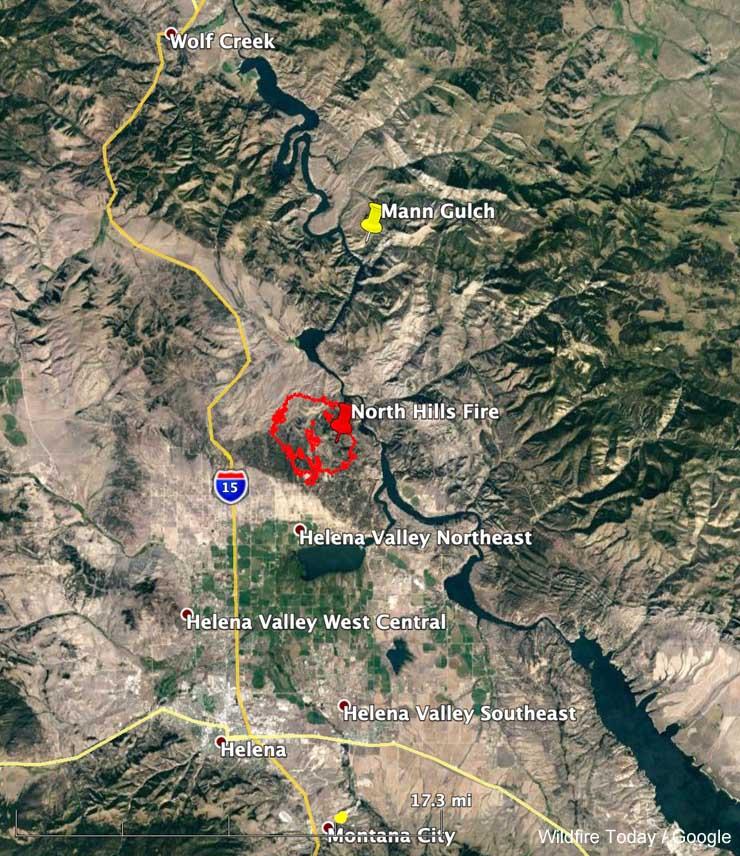 map Mann Gulch Fire 1949