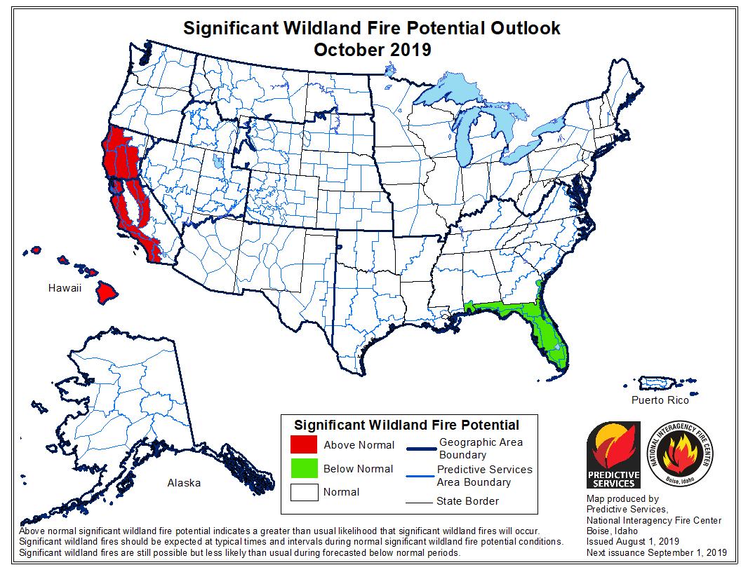 October wildfire outlook