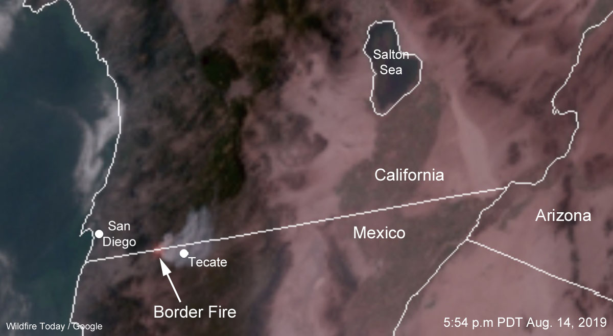 Border Fire Mexico United States California