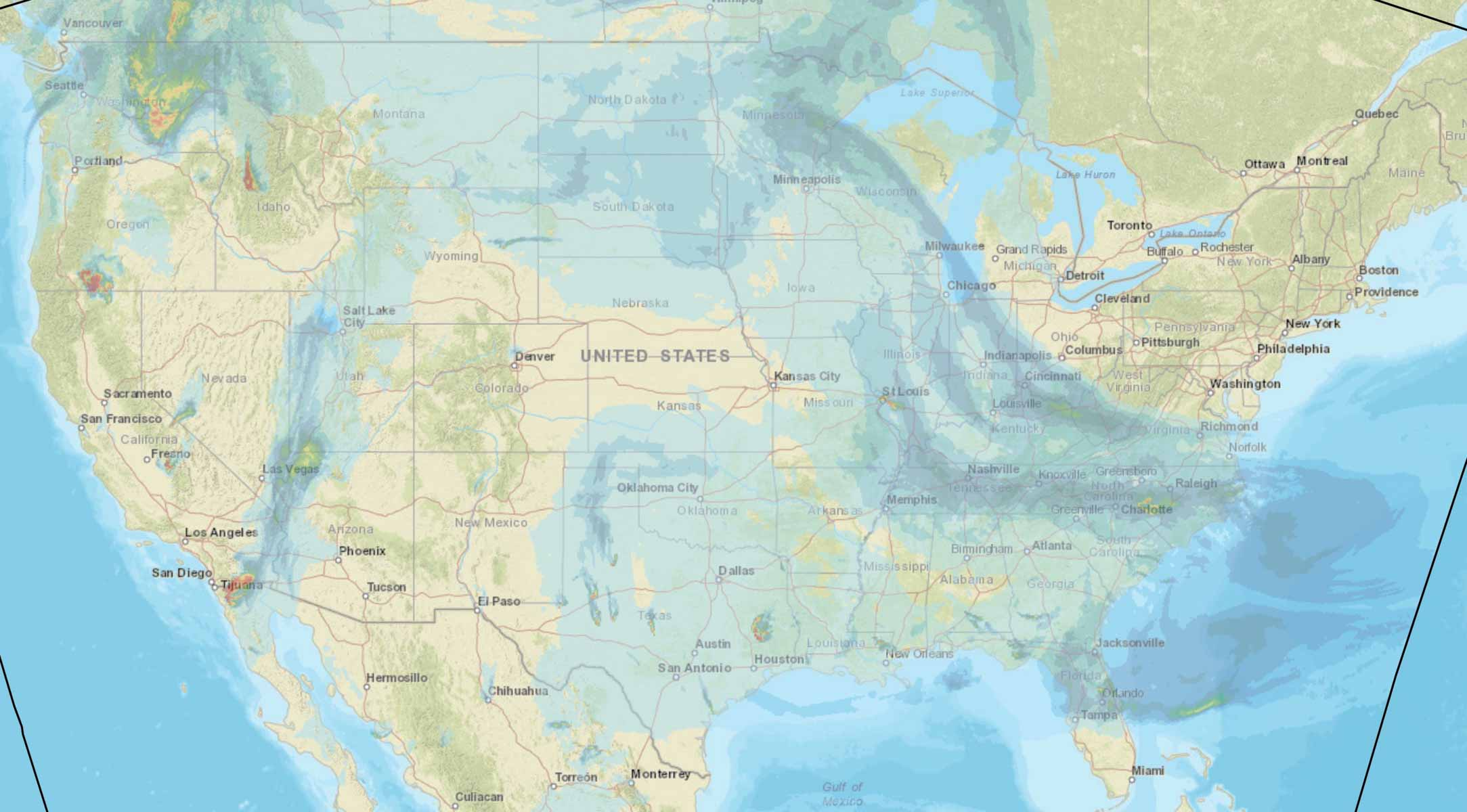 Forecast for vertically integrated wildfire smoke