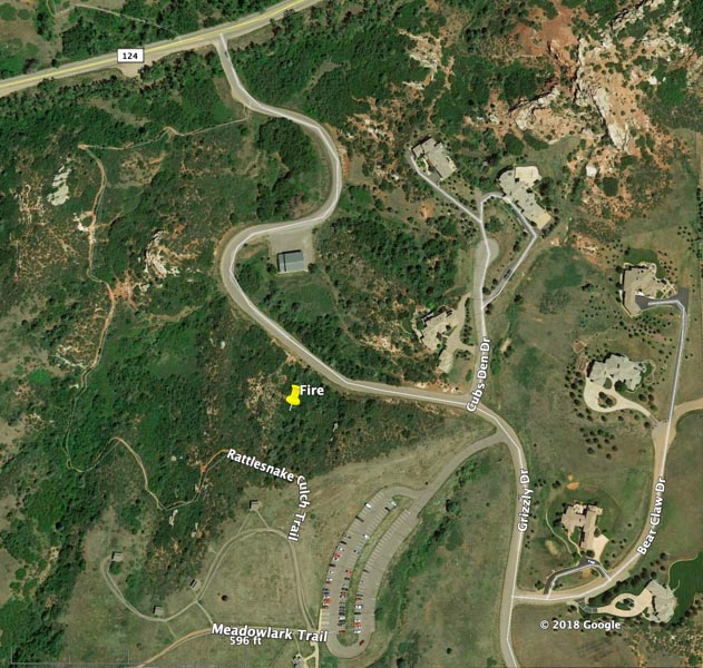 map Deer Creek Canyon Park Fire Colorado
