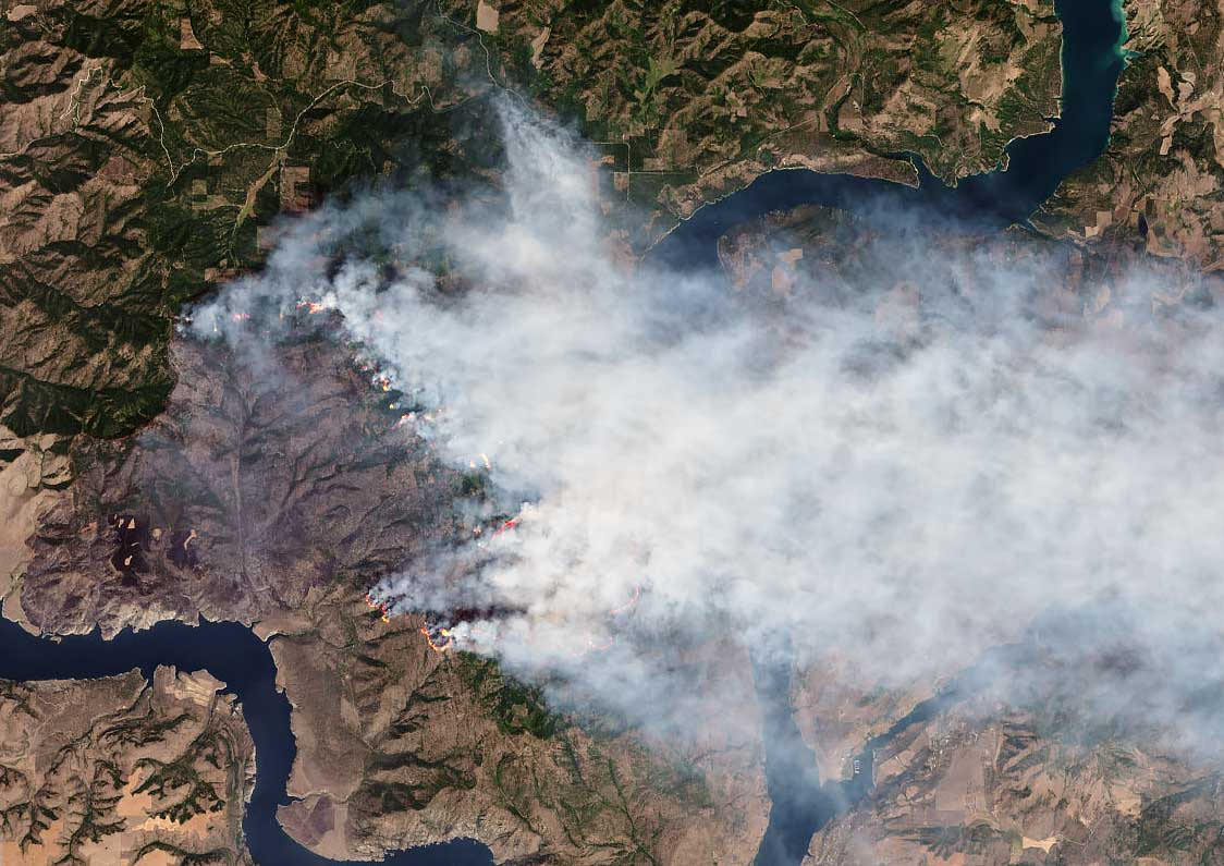NASA Earth Observatory image Williams Flats Fire