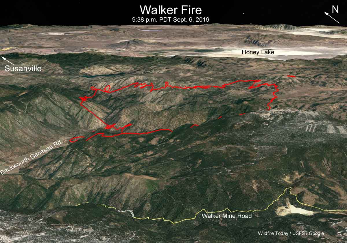 3-D Map Walker Fire