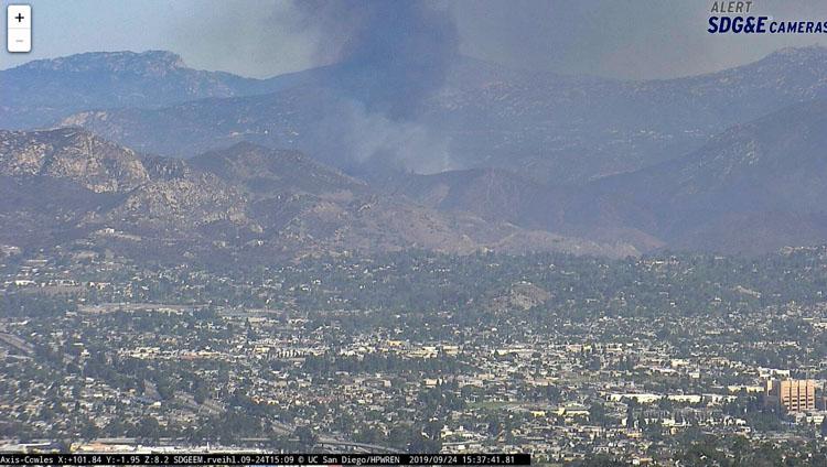 Dehesa Fire El Cajon California