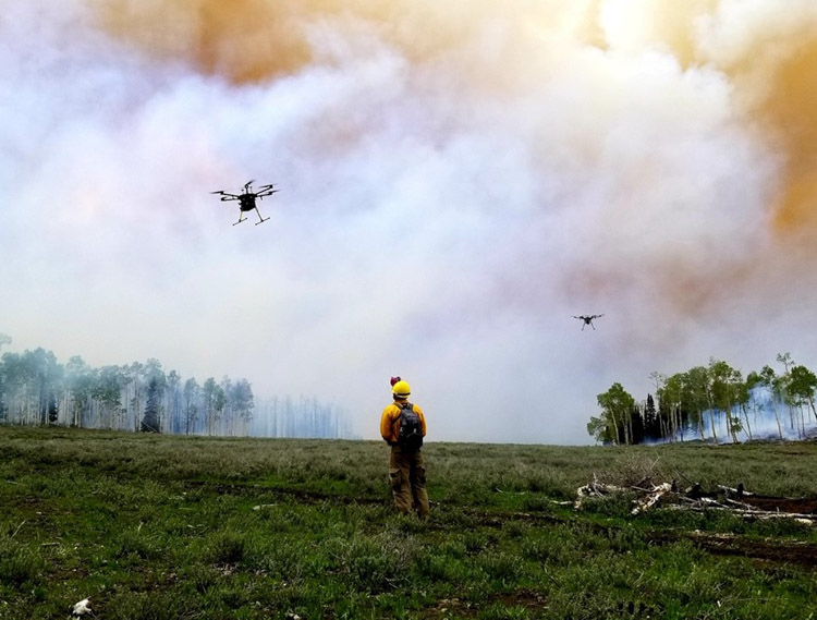 drone fire Manning Creek burn