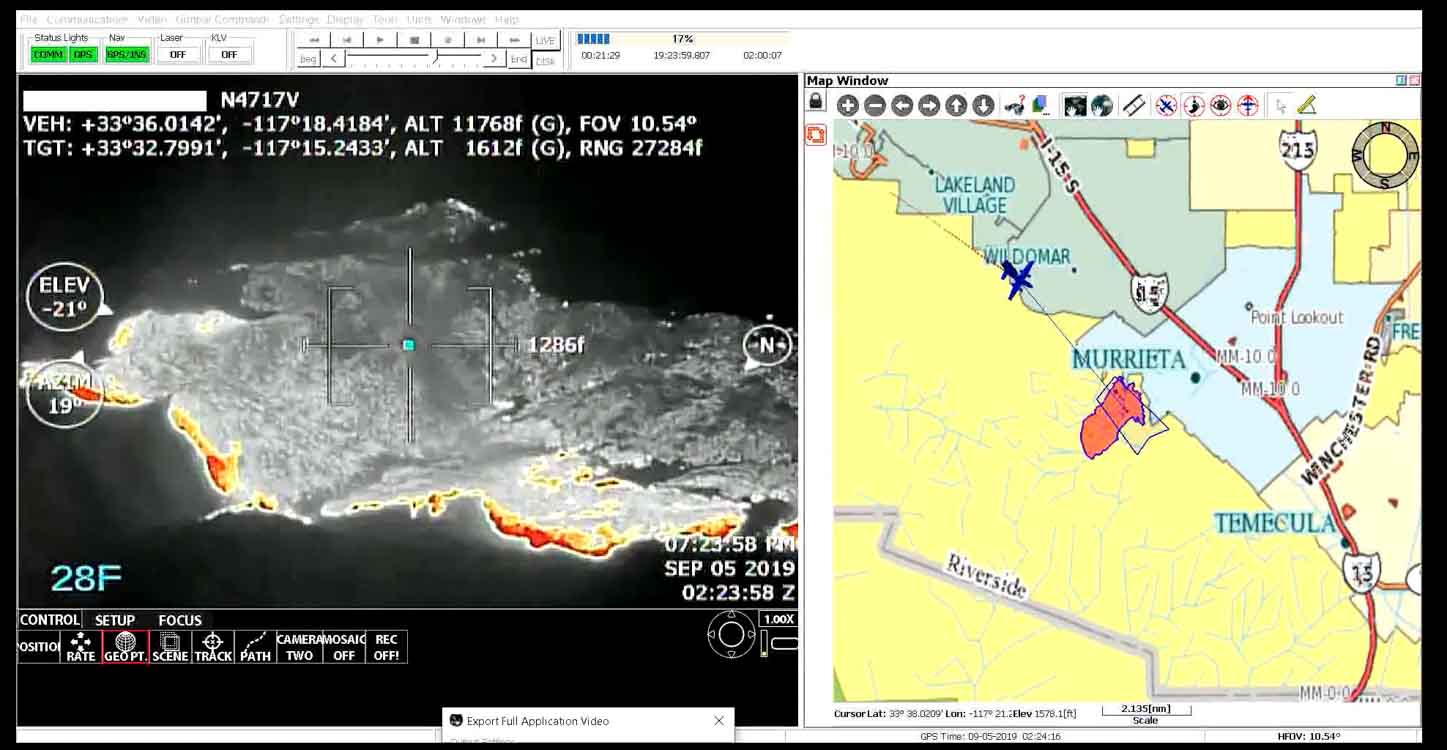 FIRIS fire wildfire mapping real time