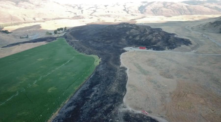video Spring Coulee Fire Okanogan County, Washington