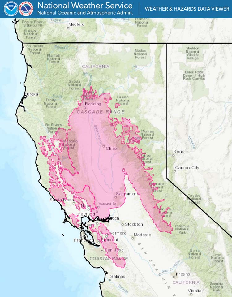 Red Flag Warning wildfire weather