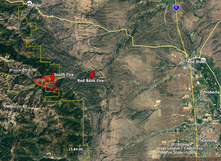 map South Fire California