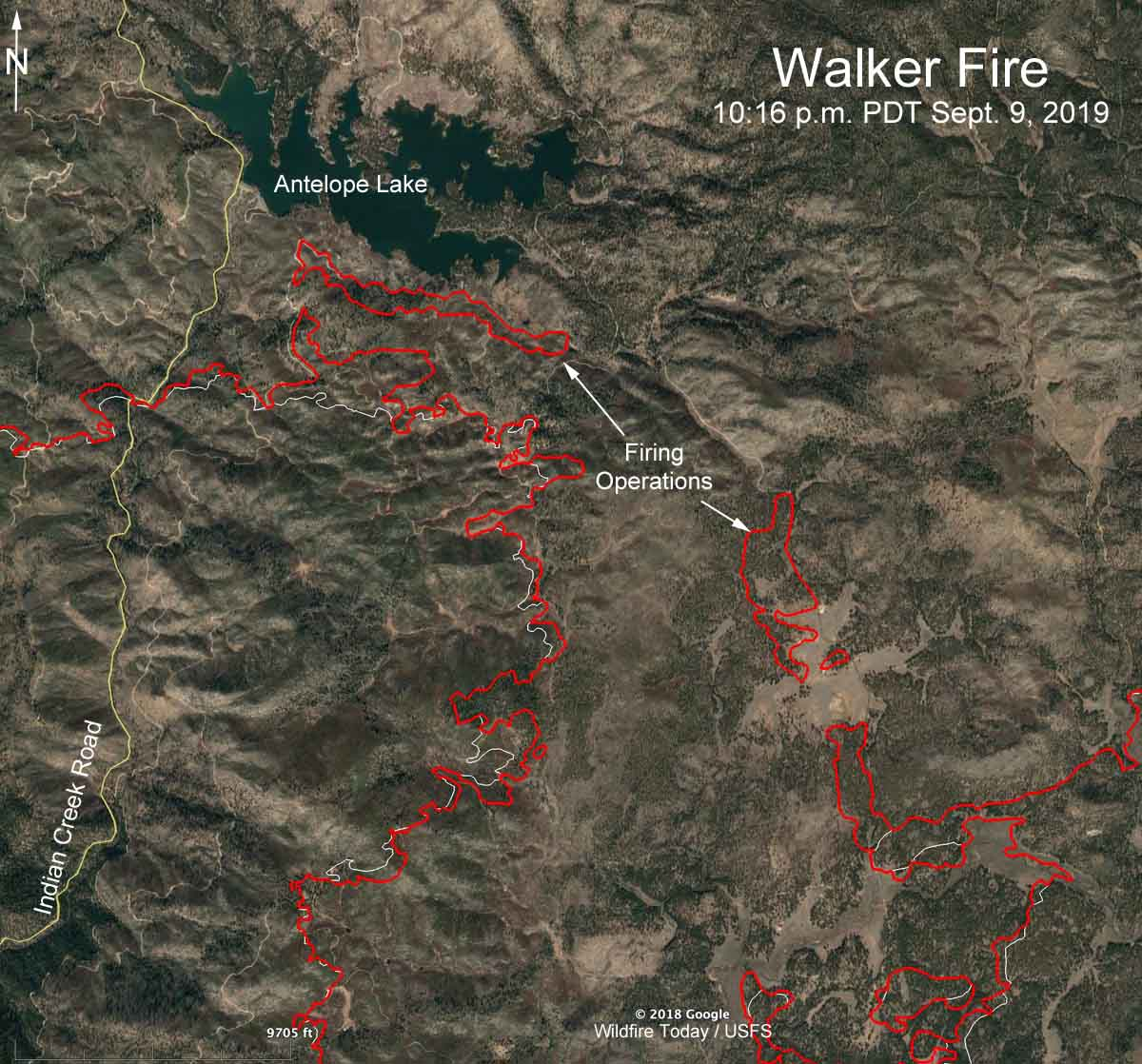 map Walker Fire