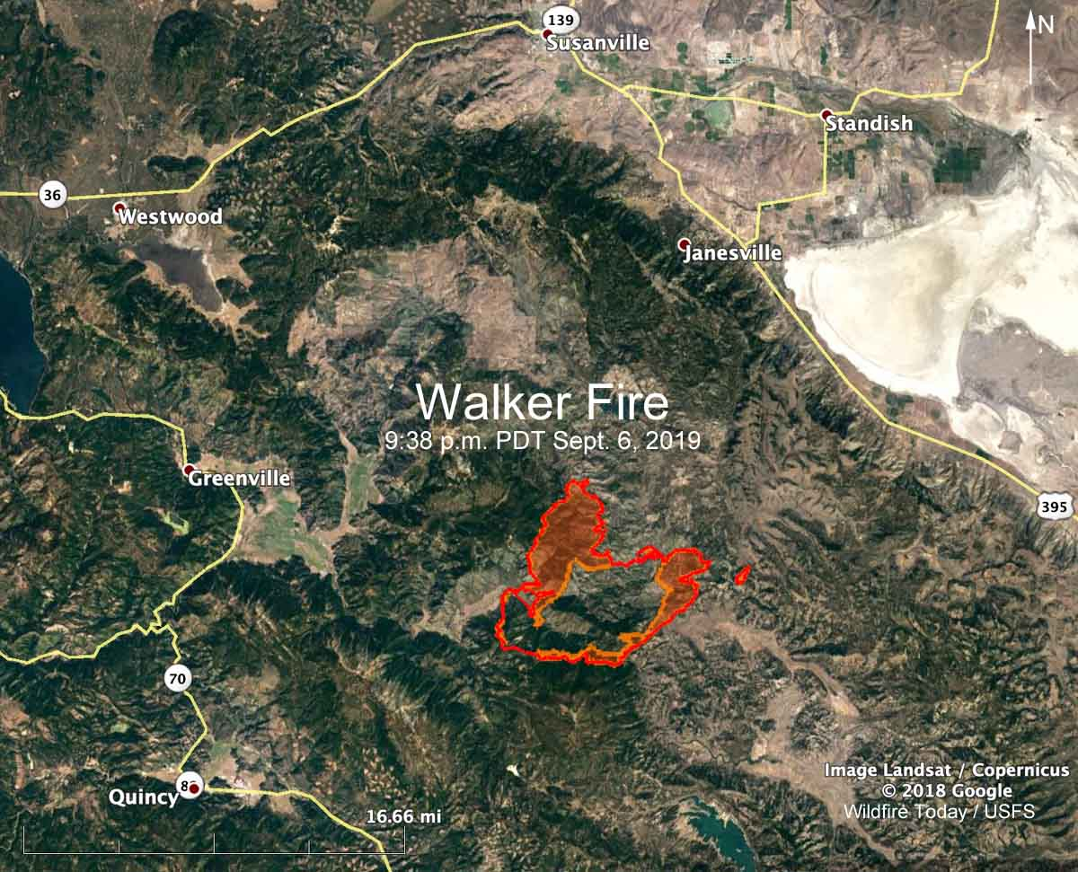 Walker Fire Susanville Quincy