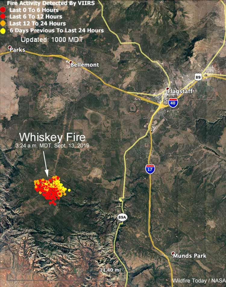 map whiskey fire flagstaff arizona