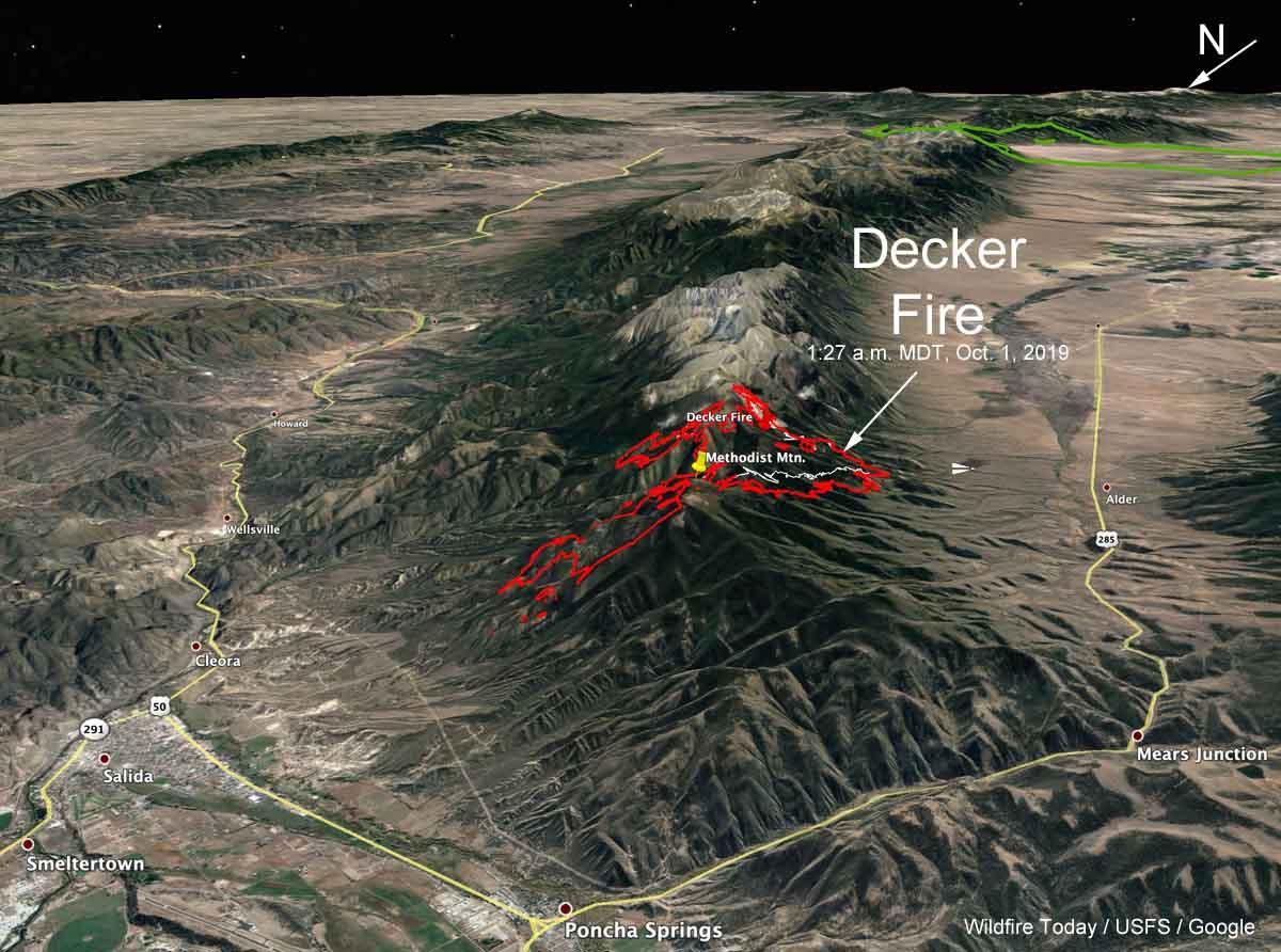 3-D map decker fire colorado