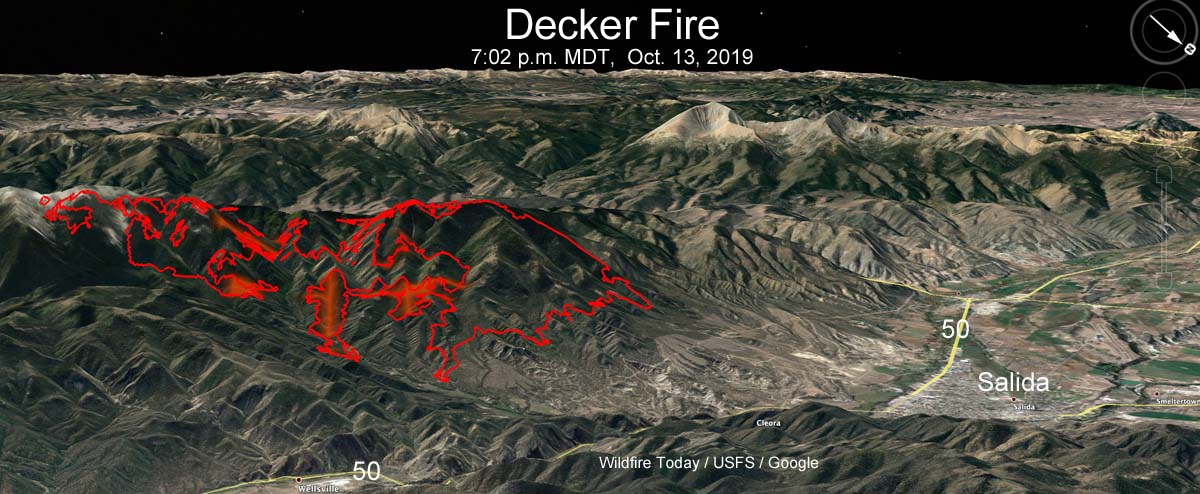 map of the Decker Fire